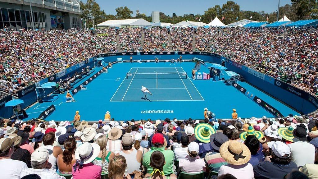 メルボルンで開催されている全豪オープンテニス