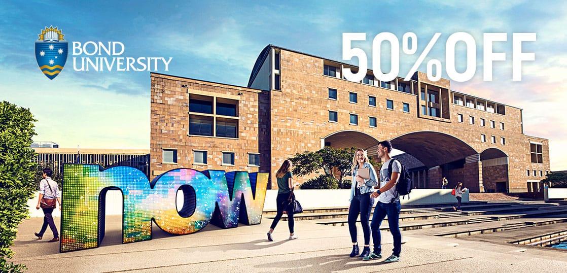 【奨学金情報】オーストラリア・ボンド大学にて授業料50%実施中!