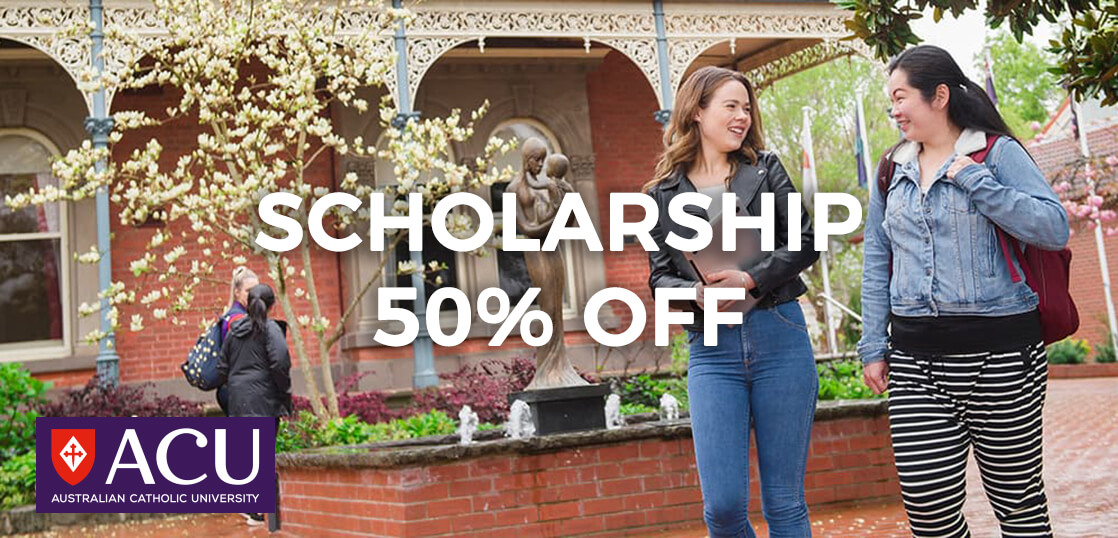 【奨学金情報】オーストラリアンカトリック大学にて授業料50%実施中!