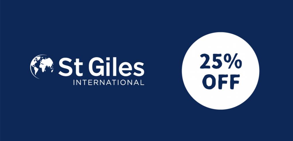 語学学校St.Gilesキャンペーン、コース費用が最大25%オフ